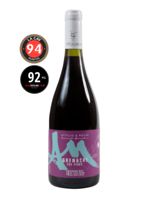 Botella vino Grenache The First con medallas